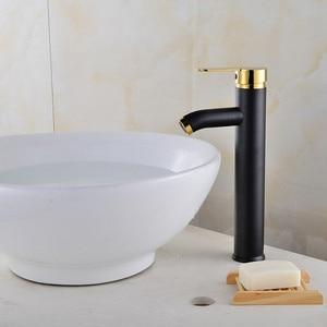 Image 2 - Смеситель для ванной Biggers, черный смеситель для раковины из нержавеющей стали с одной ручкой, смеситель для холодной и горячей воды, бесплатная доставка