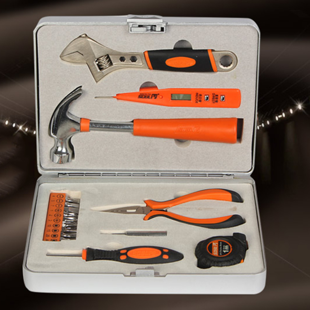 Hot 100% Brand new and high quality! 18 Pieces Mini Multi Purpose Mechanics Home Tool Set Kit In Tool Box  цены