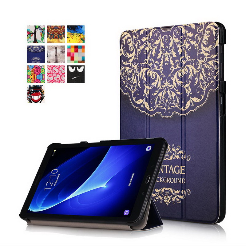 Multicolor Pattern Cover for Samsung tab A6 10.1 Case,Flip PU Leather Case for Samsung Galaxy tab A 10.1 SM-T585 T580N 2016inch аксессуар чехол samsung galaxy tab a 7 sm t285 sm t280 it baggage мультистенд black itssgta74 1
