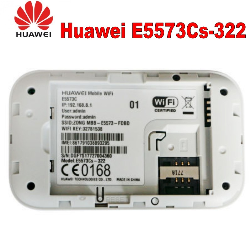 US $38 0 |Original Unlock Huawei E5573 E5573Cs 322 Portable LTE FDD Mobile  Wifi 150Mbps 4G LTE Wireless Router With Sim Card Slot-in 3G/4G Routers