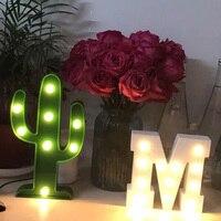 흰색 나무 편지 파티 용품 장식 아이 방 실내 야간 LED 웨딩 파티 장식 크리스마스 선물