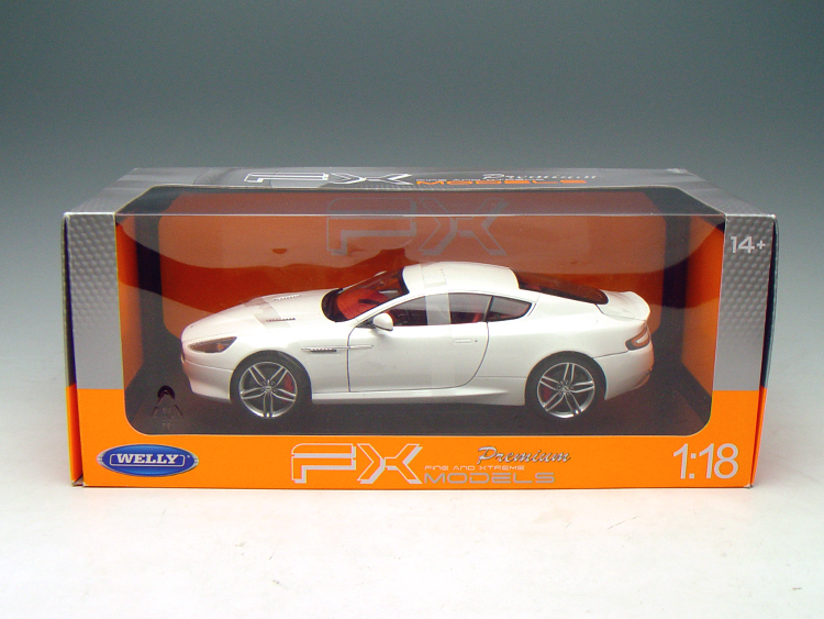 NEW 1/18 Scale Aston Martin DB9 Coupe Diecast Car Model By Welly FX Series  Gloss Black With Red Interior Silver Rim Mint In Box In Diecasts U0026 Toy  Vehicles ...