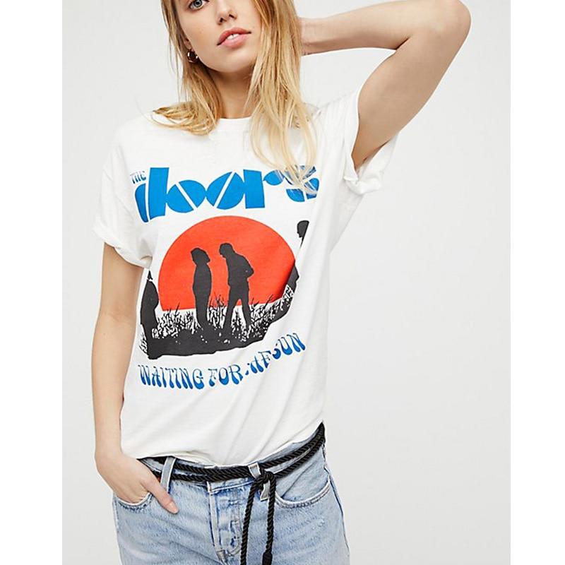 Summer Women T Shirt Vintage Fashion Casual Harajuku Aesthetic Tumblr Feminist Vegan Grunge Streetwear White Tops Plus Size