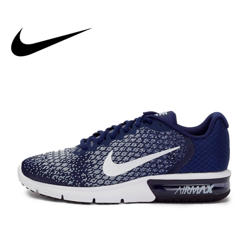 Original authentic NIKE AIR MAX SEQUENT 2 men's running shoes breathable sneakers outdoor walking jogging comfortable 852461 005