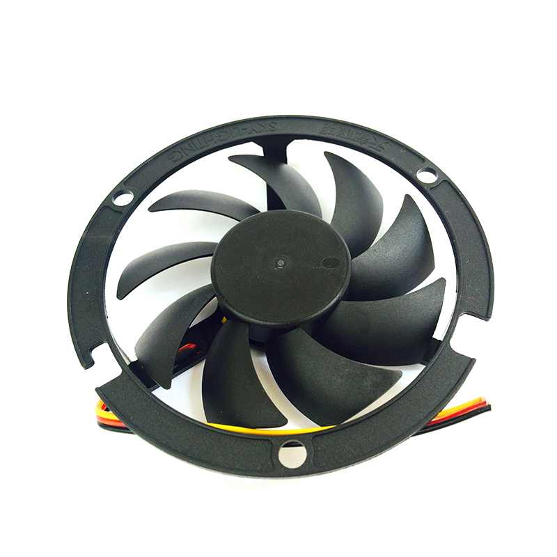 Image 2 - Computer Cooling Fan 80*80*15mm 2200RPM CPU Round 12V Cooler Fans Black round box fan bracket  YL 0045-in Fans & Cooling from Computer & Office