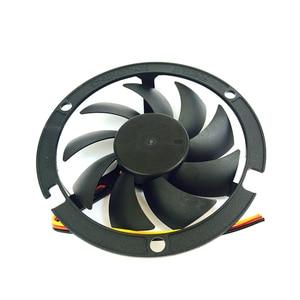 Image 2 - Computer Cooling Fan 80*80*15mm 2200RPM CPU Round 12V Cooler Fans Black round box fan bracket  YL 0045