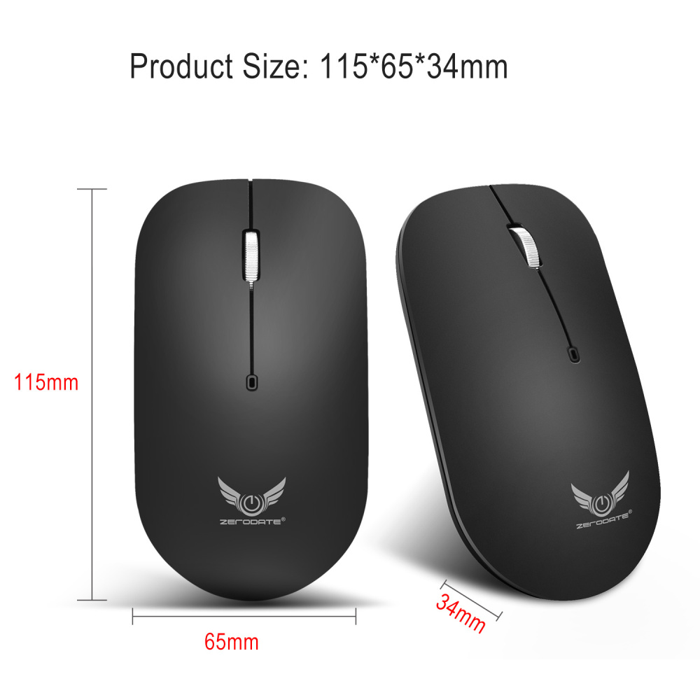Image 2 - ZERODATE  2.4G Wireless Mouse 3 Keys  Ergonomic 1600DPI  Gaming Mouse USB Optical Mice for PC Laptop Computer  For Office Home-in Mice from Computer & Office