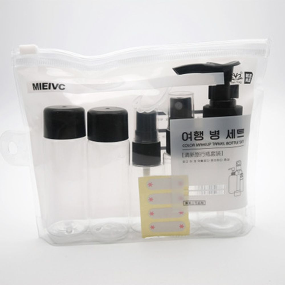7pc/Set Travel Makeup Cosmetic  Pot Bottles Plastic Transparent Empty Make Up Container Bottle Travel Accessories