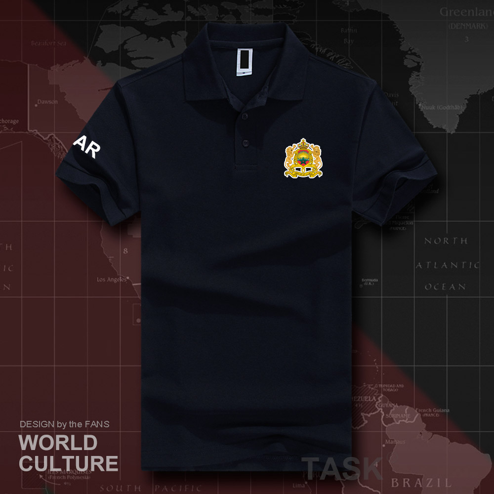 Kingdom of Morocco MAR   polo   shirts men short sleeve white brands printed for country 2018 cotton nation emblem new fashion