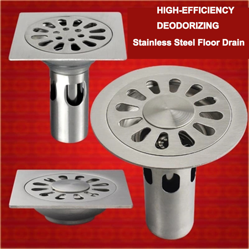 LF66003 Stainless Steel shower floor drain garage sink stopper strainer bathtub kitchen siphon