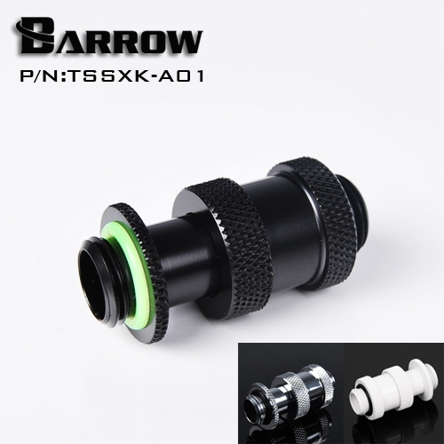 """Barrow White Black Silver Gold G1/4"""" Male to Male Rotary Connectors / Extender (22-31mm) PC water cooling system TSSXK-A01"""