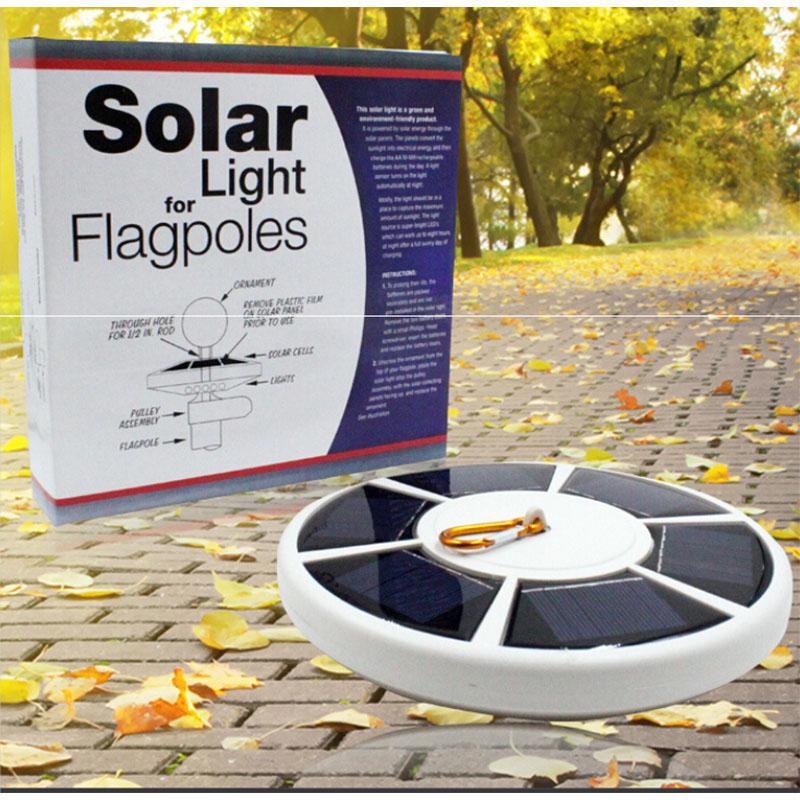 LumiParty 26LED солнечный свет, лампы столп огни Открытый Сенсор освещения солнечных батареях Flagpole лампы с Сенсор украшения