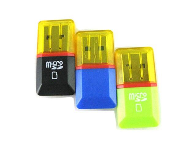 FREE SHIPPING, 100pcs/lot, high quality,high speed, small diamond USB 2.0 memory card reader/ TFcard /micro SD card reader