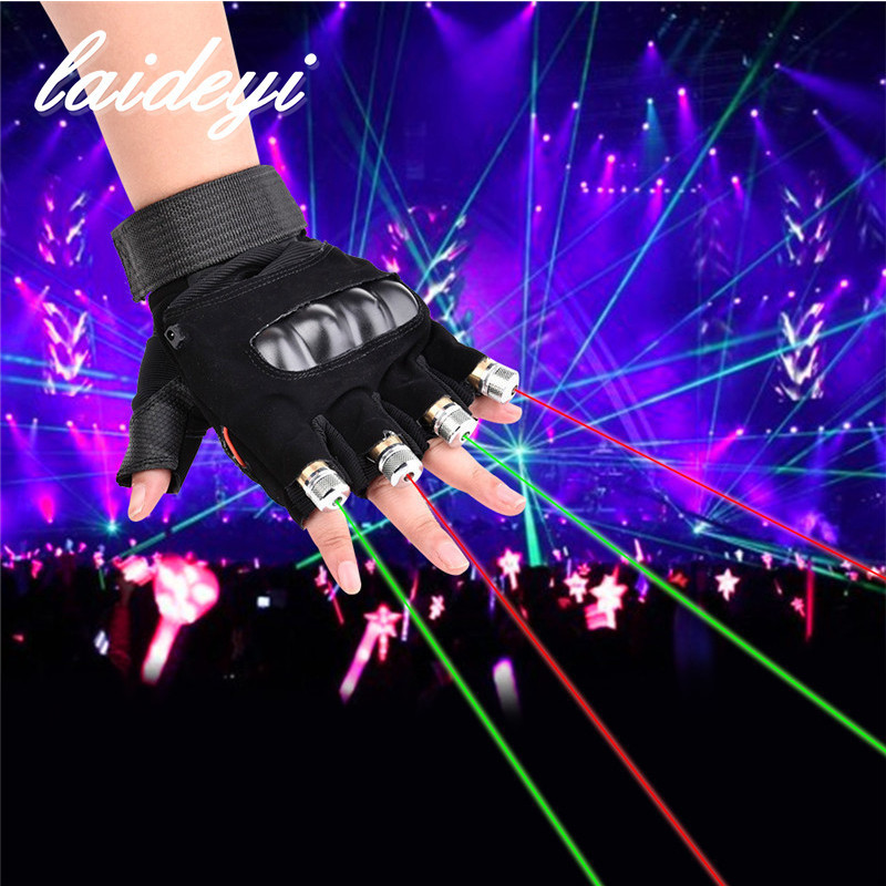 1Pcs Laser Dance Show Gloves 800mw 650nm Red Green Dual Color LED Laser Gloves LED Stage Luminous Gloves Disco Music Party novelty led laser gloves green red led bulb with battery dance show finger gloves laser for disco music party stage lighting
