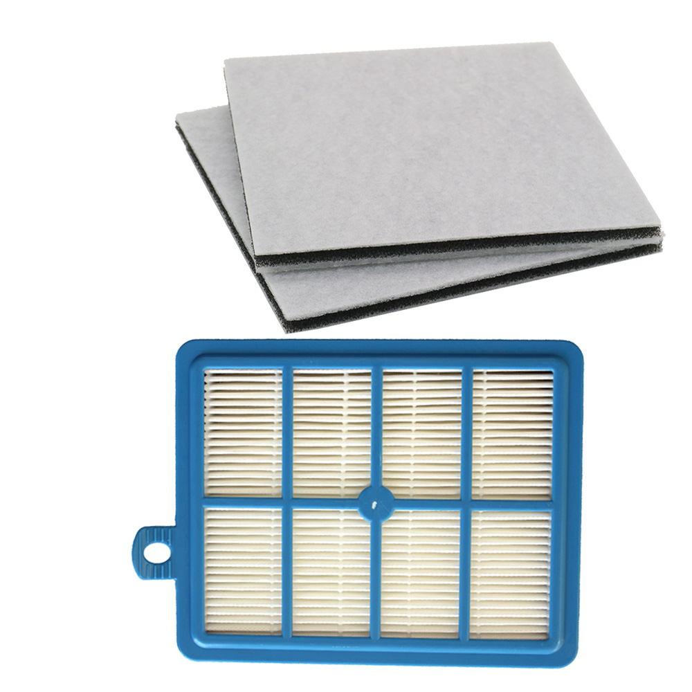 H12 H13 Reusable Hepa Filter + 2PCS Motor Cotton Filter For Philips Electrolux  AEG EFH12W AEF12W FC8031 EL012W FC9080 FC9088