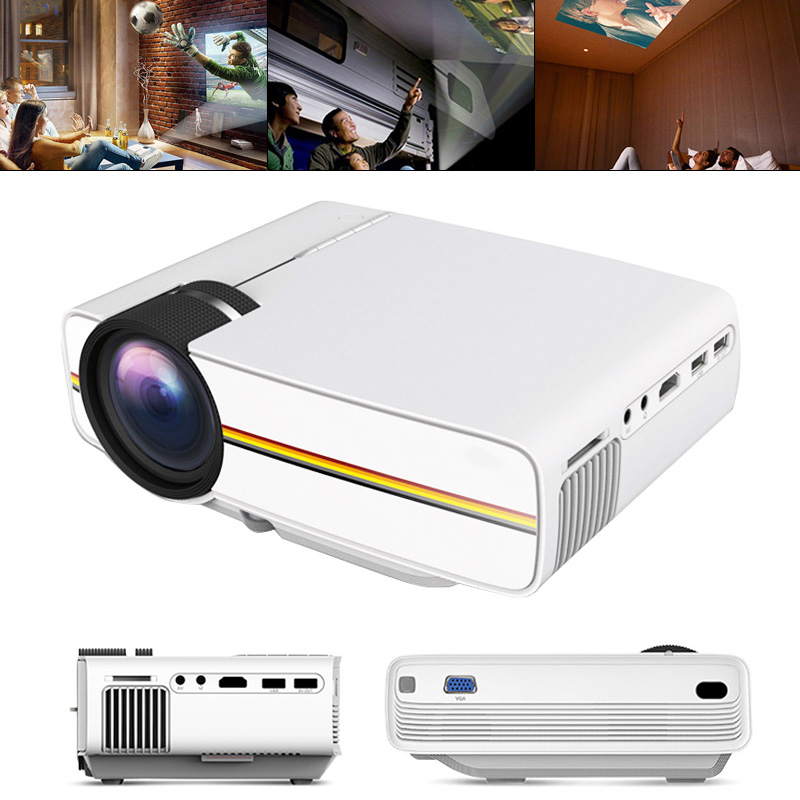 YG410 Mini Led Pocket Projector 1080P Draagbare Hd Homehold Projector Home Cinema Usb 3D Beamer Voor 138 Inch Scherm projectie