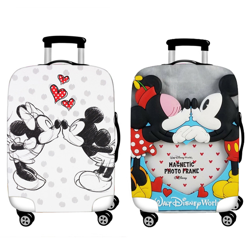 Luggage Protective Cover Case For Elastic 18-32 Inch Suitcase Protective Cover Cases Covers M Travel Accessories Mickey Minnie T