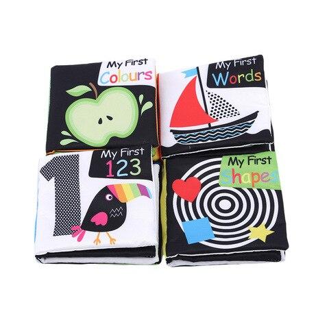 4 pcs set brinquedos do bebe livros