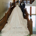 Vestido де Noiva Манга Лонга Африканских Свадебные Платья Принцесса Длинным Шлейфом Свадебное Платье Турция С Длинным Рукавом Кружева Платья Невесты 2017