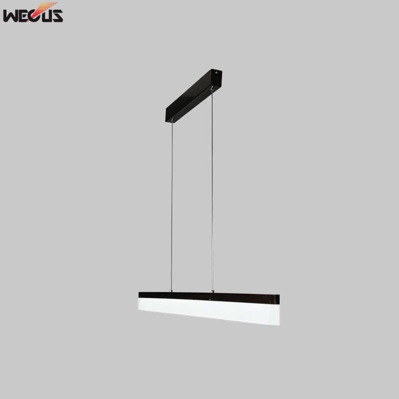 WECUS Long strip dining room pendant lamp office led art pendant lamp