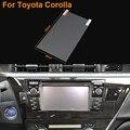 Car Styling 7 pulgadas de navegación GPS de acero de la pantalla película protectora para Toyota Corolla Control de pantalla LCD etiqueta engomada del coche