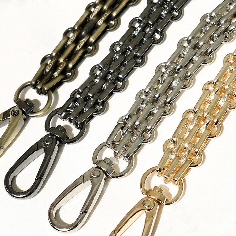 120cm Wide Bag Straps DIY 40cm-140cm Gold, Silver, Gun Black, Bronze 16mm Metal Chain Shoulder Strap Handles For Large Handbags