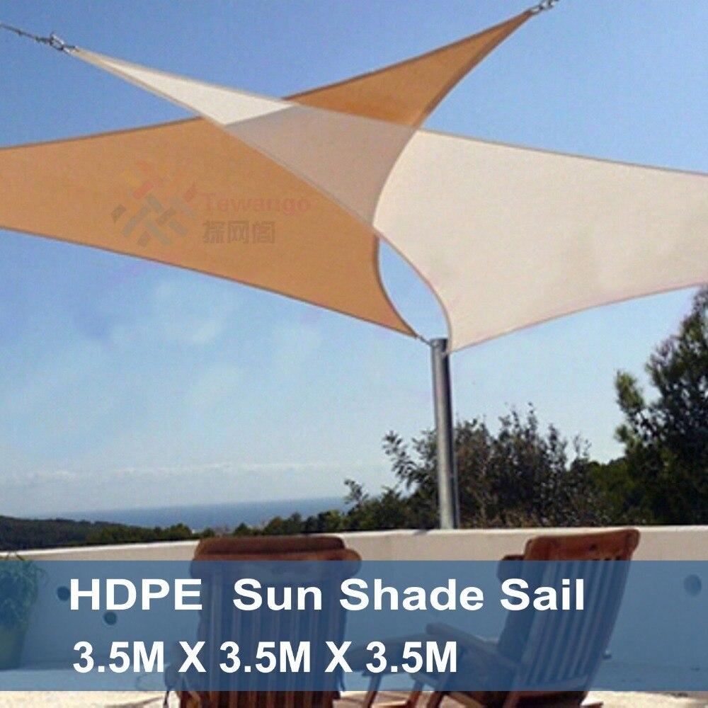 Tewango marque triangulaire Patio pare-soleil voile combinaison filet auvent auvent 3.5x3.5x3.5 M