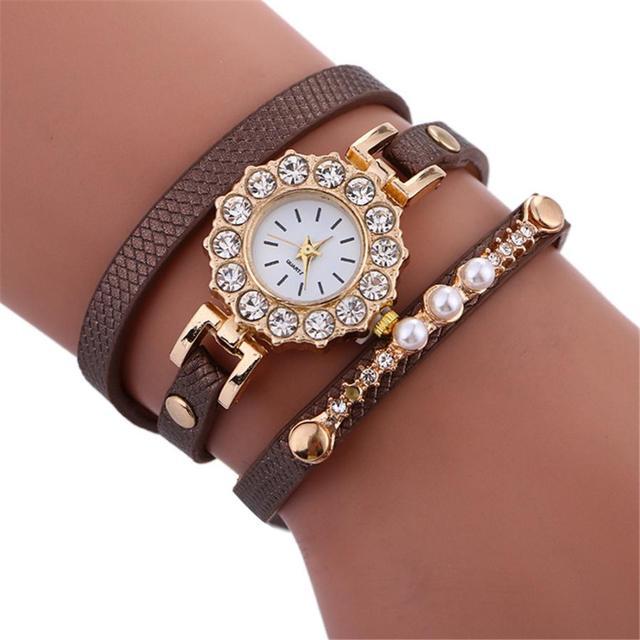 Watch 2017 women watches Simplicity Chimes Leather Bracelet Watch Steel Saat erk