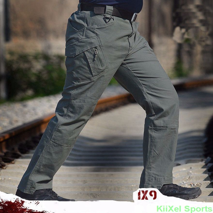 2017 IX9 Men Militar Tactical Pants Combat Trousers SWAT Army Military Pants Mens Cargo Outdoors Pants Casual Cotton Trousers(China (Mainland))