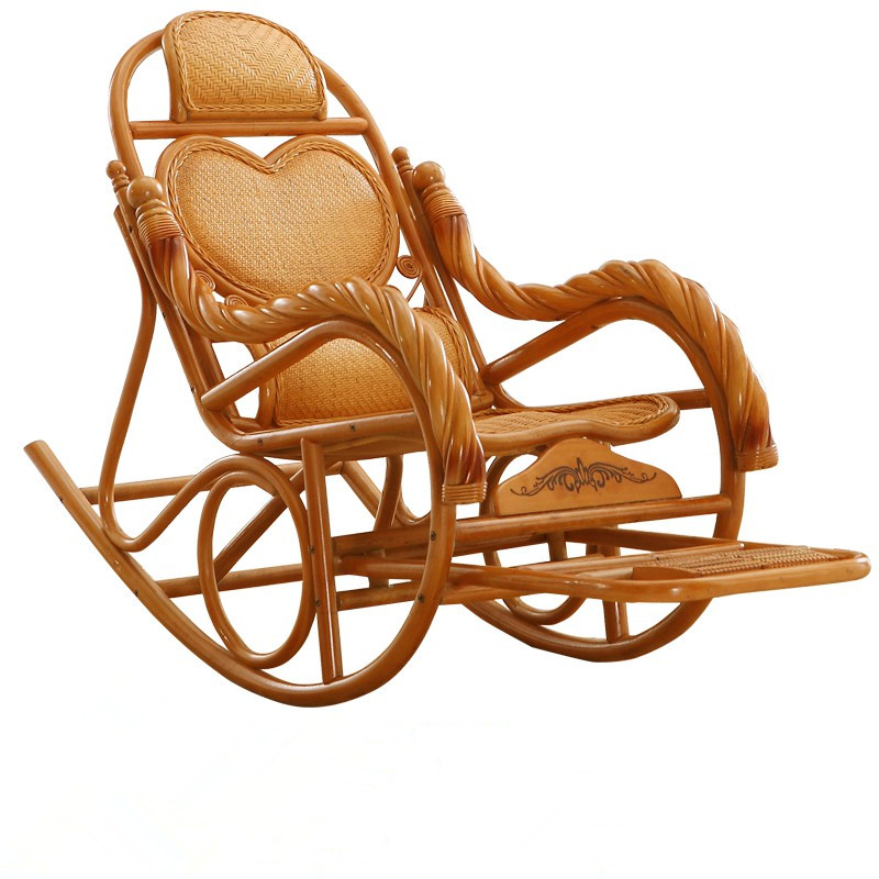 Luxury Rocking Chair Rattan Wicker Furniture China Indoor Living Room Glider Modern Easy Lounge Armchair In Chairs From