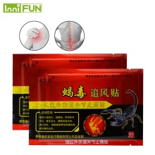 48Pcs / 6Boxes Sumifun Scorpion Venom Chinese Herbal Patches Tilbage Massager Medicated Plasters Pain Relief Pain Patch Tens C453