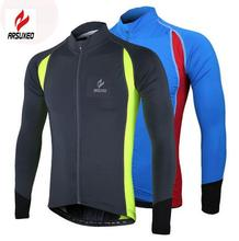 ARSUXEO Outdoors Sports Running Cycling Bike Bicycle Fitness Compression Jerseys T Shirts Long Sleeves MTB Mountain