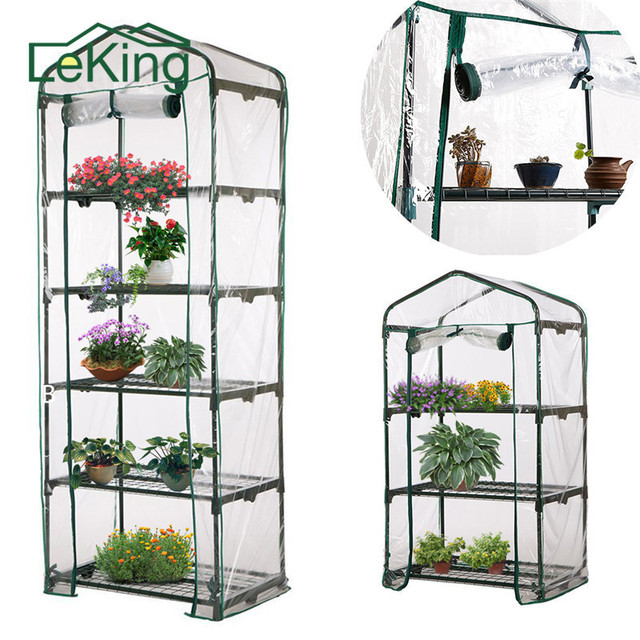 Hot Sale PVC Plant Greenhouse 3 4 5 Tier Cover Growbag For Household  Outdoor Garden Patio