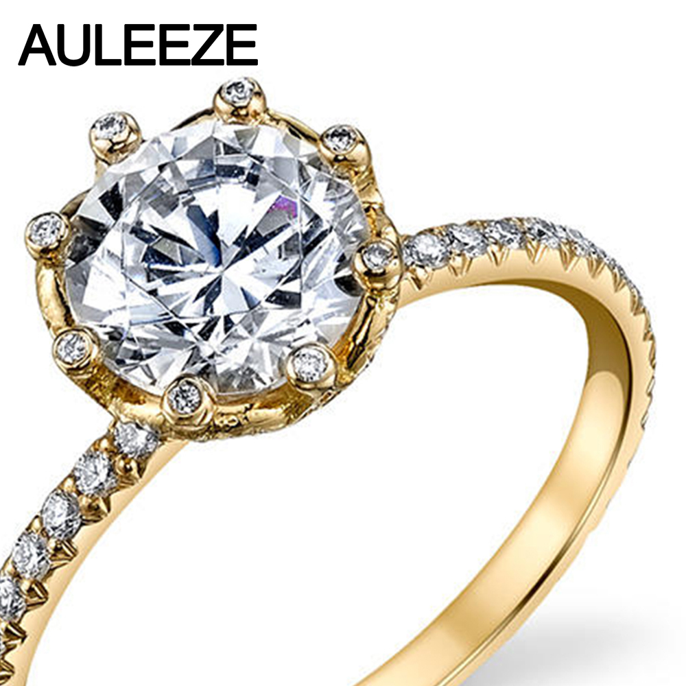 diamond gold moissanites grown for wedding jewelry item in ring unique classic women flower yellow lab from rings cathedral engagement