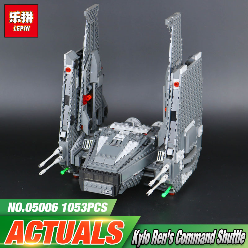 LEPIN 05006 Star Toys Wars Assembly Toys 1053pcs The 75104 Command Shuttle Set Building Bricks Blocks Kid's Toys Christmas Gifts lepin 05006 star kylo ren command shuttle lepin building blocks educational toys compatible with 75104 lovely funny toys wars