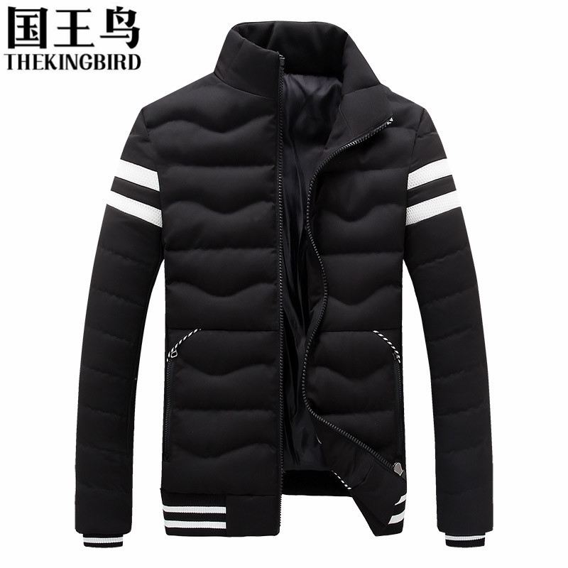 Men Parka Coat Brand Clothing Winter Jackets Mens Contrast Color Jackets Casual Thickening short Cotton-padded jacket M-3XL