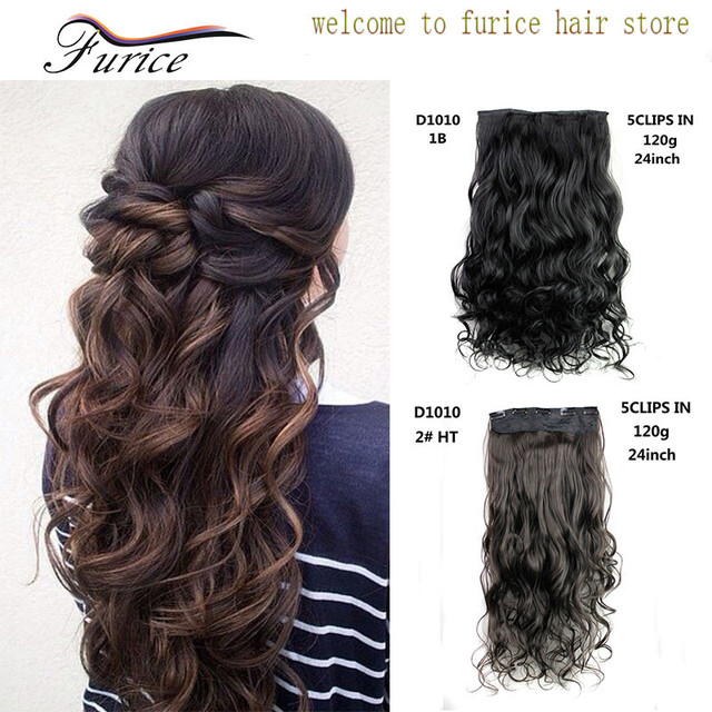 Wholesale 24 Inch 60 Cm 120g Curly Wavy Hair Extension Synthetic