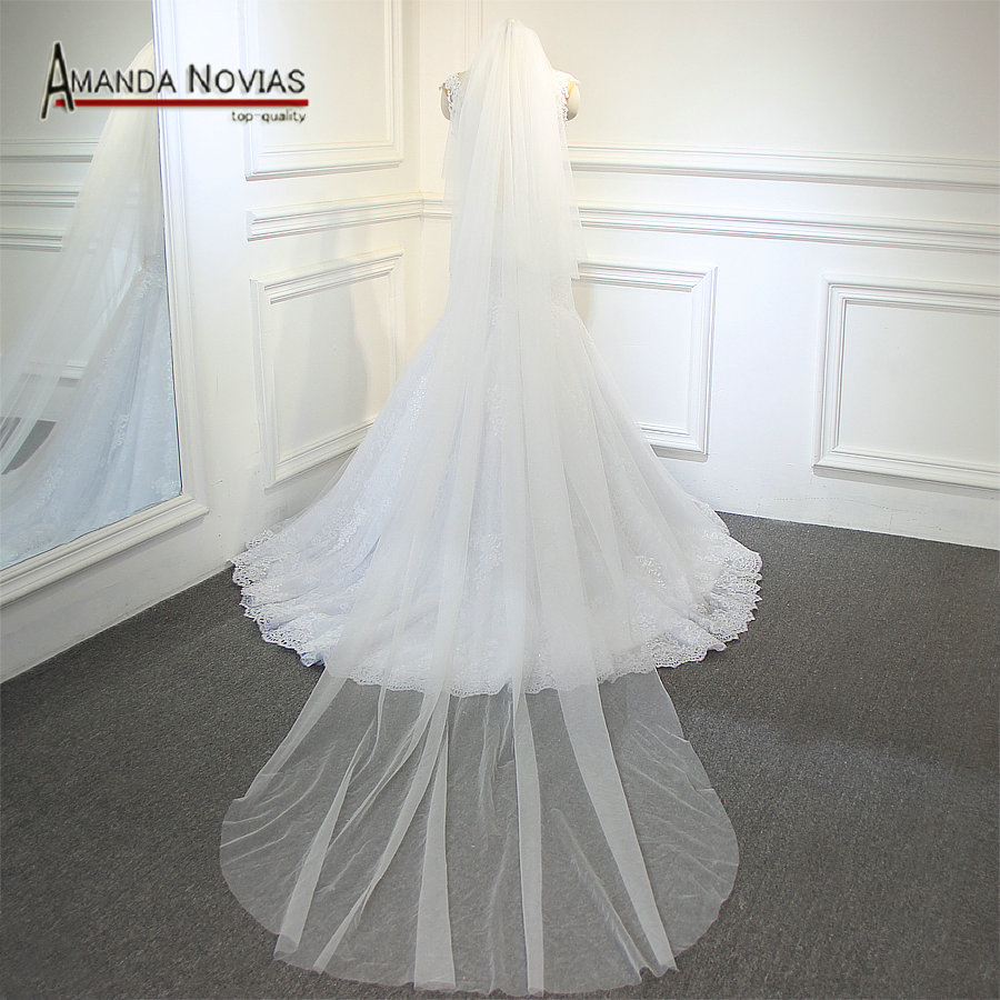 Two layers veil plain tulle two layers one layer 80cm one layer 300cm