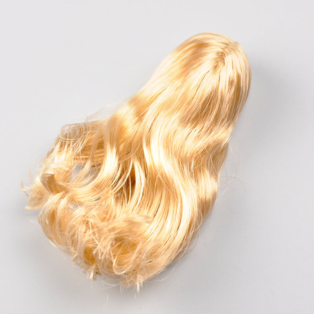 Popular 1/6 Female Golden Curls Hair Model Toys Lovely Beautiful Girl Head Sculpt Wig For 12 Figure  Collections 1 6 popular km 38 female head sculpt model with black hair for 12 female action figure body doll toys