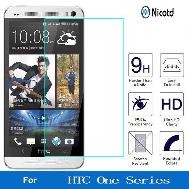 Nicotd 9H מסך מגן מזג זכוכית עבור HTC Desire 510 610 626 עבור HTC אחד M7 M8 M9 M10 e8 X9 A9 E9 בתוספת מגן סרט