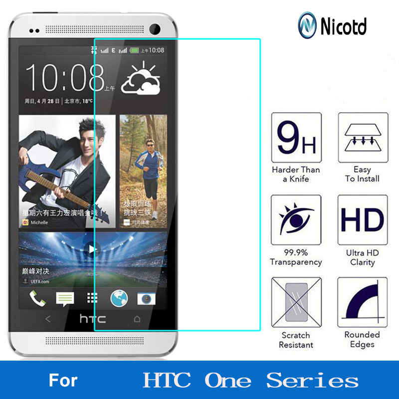Nicotd 9H Screen Protector Tempered Glass For HTC Desire 510 610 626 For HTC One M7 M8 M9 M10 E8 X9 A9 E9 Plus Protective Film