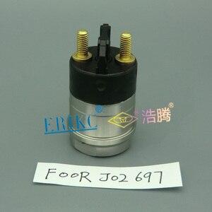 Image 3 - ERIKC części Common Rail F00RJ02697 wtryskiwacz paliwa F00R J02 697 Assy elektromagnetyczny zestaw zaworów F 00R J02 697 zawór elektromagnetyczny