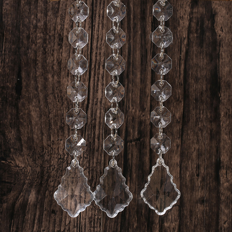 6 Beads Clear Acrylic Crystal Garland Chandelier Hanging