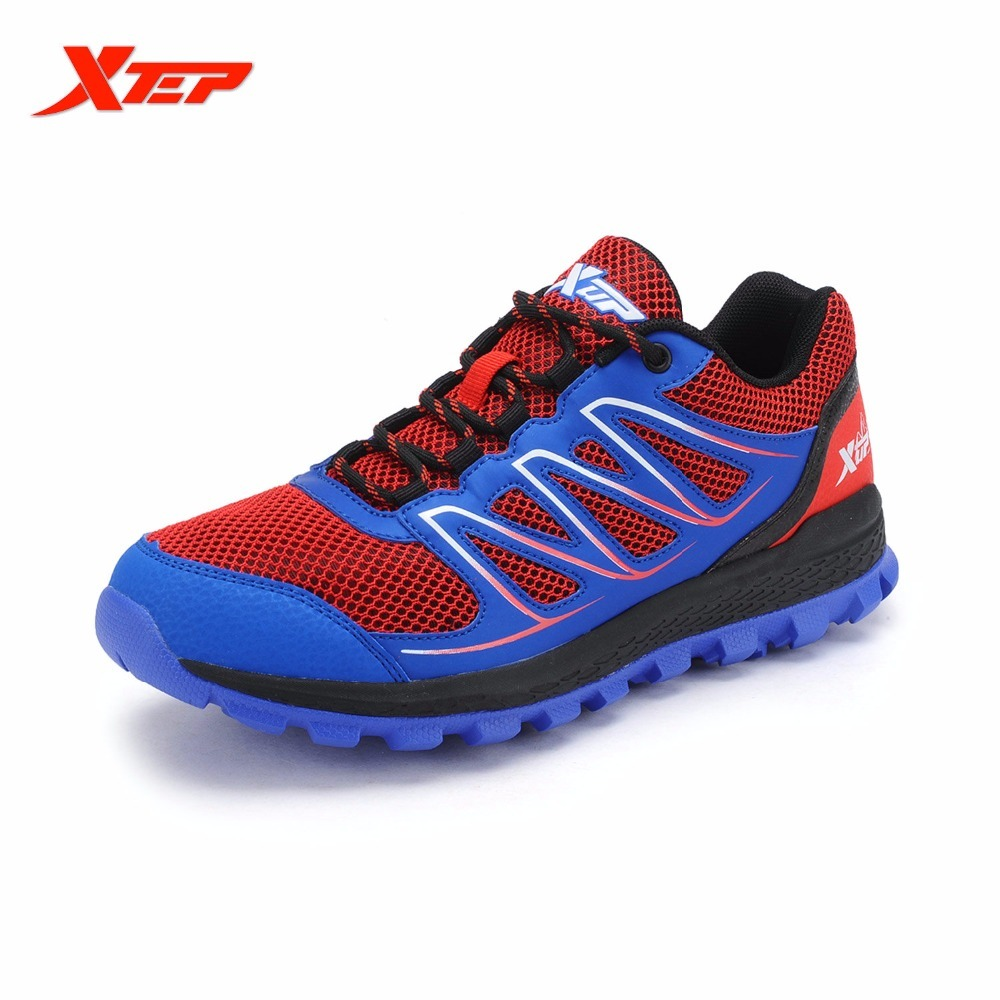 XTEP Brand 2017 New Summer Men's Running Breathable Cross-Country Trail Air Mesh Sports Shoes Sneakers цены и скидки