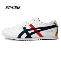 Trendy Men S Spring Autumn Striped White Low Lace Up Shoes Rubber Sole Adult Student Wear