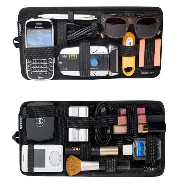 Sun Visor Multifunction Makeup Car Card Package Holder Glasses ...