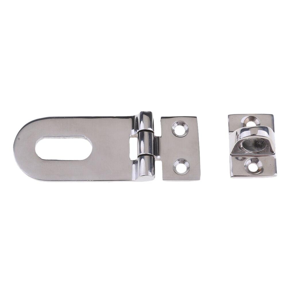 Image 2 - 1 Set Silver Boat Swivel Hasp Lock Hinge Hardware Parts 316 Stainless Steel Fit Boat/Yacht/RV Locker Door Dock Box Garage Door-in Marine Hardware from Automobiles & Motorcycles
