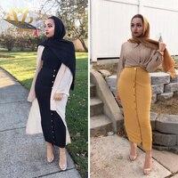 Women Elegant Modest Muslim Islamic Warm Pencil skirt New Bandage Skirt Women Ankle Length Long Skirts