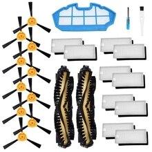 Kit di accessori Per Ecovacs Deebot N79S N79 Robot Aspirapolvere Filtri, Spazzole Laterali, spazzola principale... (2 + 1 + 10 + 10)