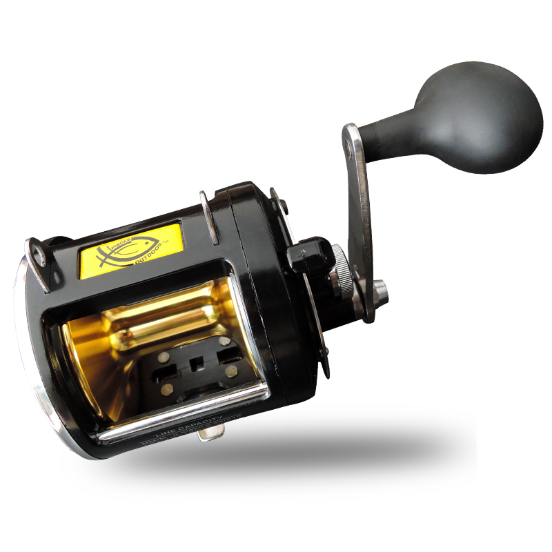 55LB Power Trolling Reel Super Strong Boat Fishing Jigging Reel 8BB Gear Ratio 3.4:1 Big Game Saltwater Sea Fishing Reel saltwater reel jigging 15w 60lbs balanced drag offshore inshore sea game fishing silky smooth super light gomexus